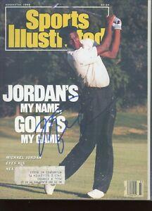 Michael Jordan Chicago Bulls signed Sports Illustrated Slabbed Encap BAS LOA