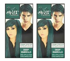 2-PACK Splat Deep Emerald Rebellious Color One Step Hair Coloring Complete Kit
