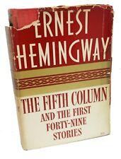 The Fifth Colonne~Première Édition~Ernest Hemingway~ 1st Question ~1938 Rare