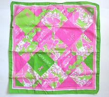 Lilly Pulitzer Ford Pink Ribbon Cars Butterflies Handkerchief Bandana Scarf
