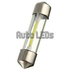 1 White COB LED 36mm Festoon 12v Interior LED Bulb