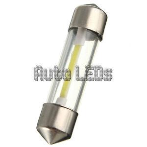 1 White COB LED 36mm Festoon 12v Interior LED Bulb