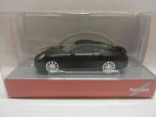 Herpa 038713 Porsche 911 Turbo avec Chrome Jantes Noir Mat Noir 1:87 NOUVEAU