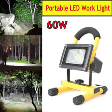 60W Portable Rechargeable LED Work Light Flashlight Cordless Outdoor Flood Lamp
