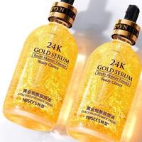 24K Gold Essence Serum Hautpflege Falten Anti Aging Liquid Face Cream Schön