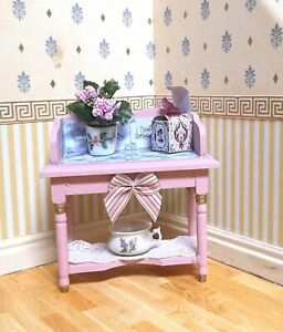 1/12th Scale Dolls House Handmade Wash Stand /Table, by Halloran's Hobbies.