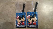 2 American Tourister DISNEYLAND RESORT Official Mickey & Minnie Luggage Tags