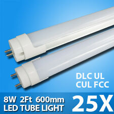 25 pcs of 2ft 8W T8 LED Tube 850lm with UL Approval Single End Power G13 Base