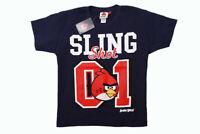 Angry Birds Jungen T-Shirt kurzarm Sommer Urlaub Blau Dunkelblau Größe 140  NEU