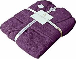 Kids Girls Children 100% Cotton Bathrobe Terry Toweling Hooded Bath Robe Gown
