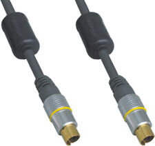 3m Long 4 Pin S-Video Male to Plug Cable/Lead -SVHS Laptop/Monitor Mini Din