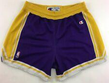 LA Los Angeles Lakers Champion basketball purple shorts NBA mens Extra Large XL