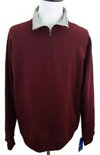 New Champion Authentic Mens XL Maroon 1/4 Zip Long Sleeve Sweater/Shirt M7