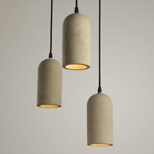 1 Light Cylindrical Concrete Shade Mini Grey Cement Ceiling Pendant Vintage Lamp