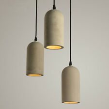 1 Light Vintage Cylindrical Concrete Shade Mini Grey Cement Ceiling Pendant Lamp
