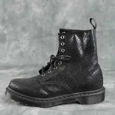 DR. MARTENS Alix Lace-Up Ankle Boots  BLACK SNAKE Women's Size 10 ANB