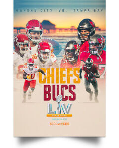 Tampa Bay Buccaneers vs Kansas City Chiefs LV Champions Poster Full Size