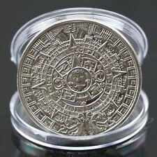 Mayan Aztec Calendar Souvenir Silver Plated Commemorative Coin Collection Gift