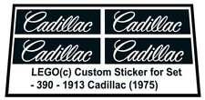 Replica Sticker for Lego® Hobby Sets set 390 - 1913 Cadillac (1975)