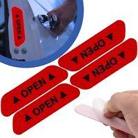 4x Auto Tür Reflektierende Warnung Aufkleber Sticker Rückstrahler Sicherheit