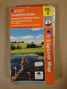 Explorer Map OL2 Yorkshire Dales Ordnance Survey 2006