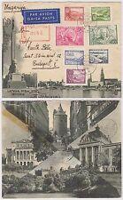 1938 Latvia Reg Air Cover Riga to Budapest 20th Ann Republic FDC via Bahnpost