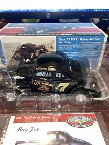 1940 Ray Fox #7 Cox Motor Co. Ford Coupe 1/24 Action NASCAR Classics Diecast MIB