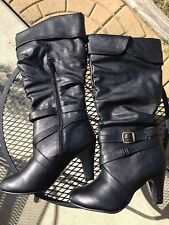 Ladies Black tall boots. Size 10