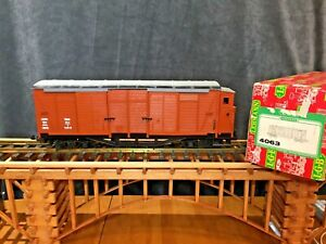 LGB #4063 4 AXLE 4 DOOR BOX CAR WITH BRAKEMANS CABIN * ORIGINAL BOX * G Scale *