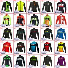 Winter Cycling Thermal Fleece Jersey Mens Long Sleeve Team Bike Sports Uniform