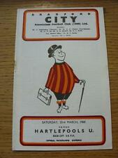 23/03/1968 Bradford City v Hartlepool United  (Rusty Staple/Mark). Item In very