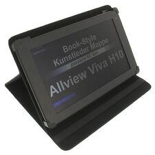 Tasche für Allview Viva H10 Book Style Schutz Tablet Hülle Tisch Halter schwarz