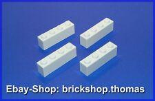 Lego 4 x  Bausteine Steine - 1x4 - Basic Bricks weiß / white - 3010 - NEU / NEW