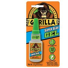 10 x Gorilla Adhesive Bonding Super Glue - GEL - 15g Bottle