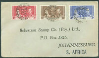 BRITISH NIGERIA TO SOUTH AFRICA Cover 1935 VF