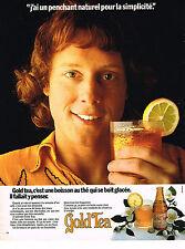 PUBLICITE  advertising 1973   GOLD TEA   thé glacé