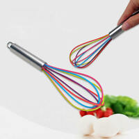 Silicone Mini Whisk Wisk Stainless Steel Utensil Kitchen Baking Professional N g