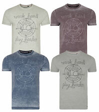 Lee Cooper Printed Farway New Men's T-Shirts Cotton Vintage Faded Jersey Tee Top