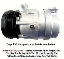 Suzuki 04-08 Forenza 05-08 Reno 2.0L OEM Delphi V5  AC Compressor 6 Grooves