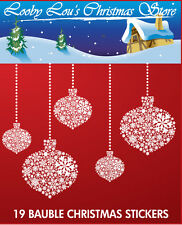 CHRISTMAS BAUBLE WINDOW STICKERS - WINDOW CLINGS - 19 BAUBLES VARIOUS SIZES