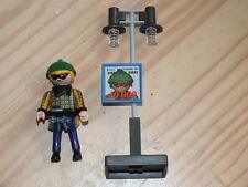 Playmobil voleur cambrioleur bandit masque noir bonnet vert