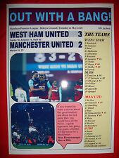West Ham United 3 Manchester United 2 - 2016 - souvenir print
