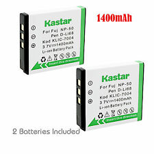 Kastar Battery 2x for Fujifilm Np-50 Bc-50 Bc-45w Fuji FinePix F50fd F60fd