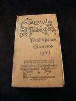 Catalogue Timbres Poste Yvert & Tellier Champion 1930