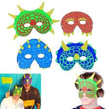 Dazzling Toys Pack of 12 Dinosaur Foam Masks 7 Inch Fancy Dress Costume Party