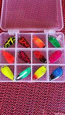 12 x 3,0g Japan-Blinker + BOX Set für Forellenblinker Set Trout Spoon