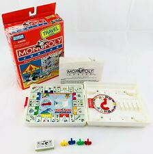 1991 Monopoly Junior Travel Game by Milton Bradley Complete in Good Condition