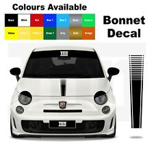 Abarth Fiat 500 595 Punto Bonnet Stripe Graphic Decal Sticker Livery Badge