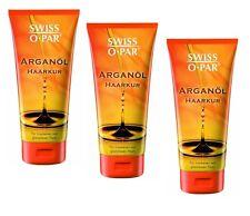 3x 200ml Swiss O Par Aceite de argán Cura para cabello seco y aburrido Pelo