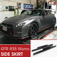 For Nissan Skyline GTR R35 FRP NSMO Style Side Skirt Panel Flat Add On 2pcs